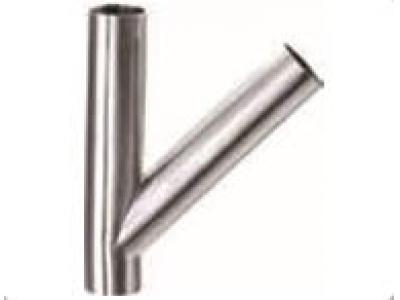 焊接式45°不锈钢斜三通